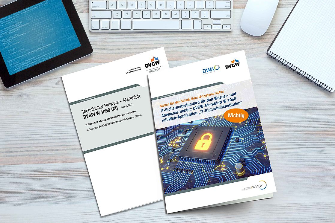 "DVGW Guideline W 1060 with web application ""IT Security Guide"" for the protection of IT systems in the water and wastewater sector"